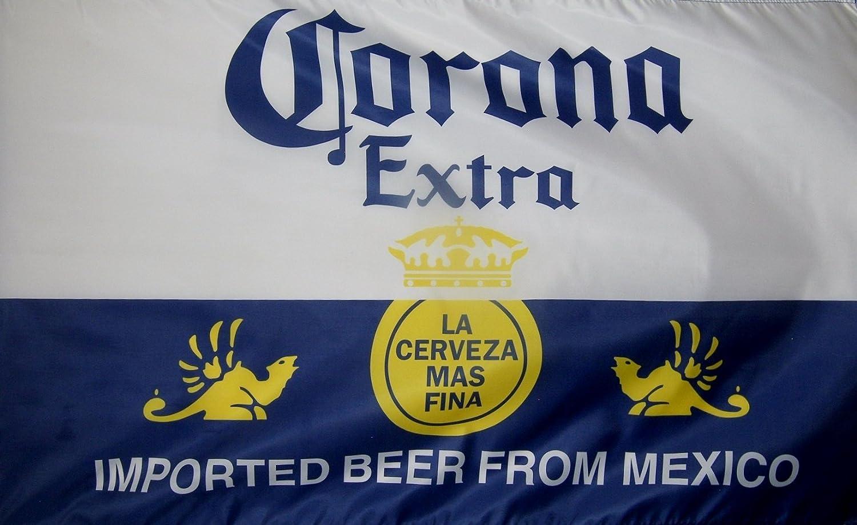 Corona Extra cerveza 91,44 cm X 152,4 cm bandera al aire libre de interior de lujo: Amazon.es: Oficina y papelería