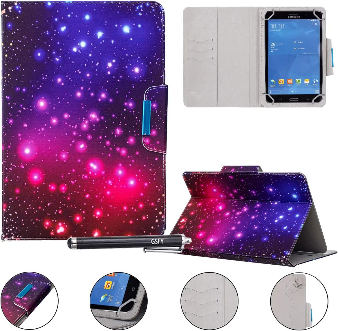 "Universal Case for 9-10.5 inch Tablet, Newshine Stand Folio Case Protective Cover for 9"" 10.1"" Touchscreen Tablet"