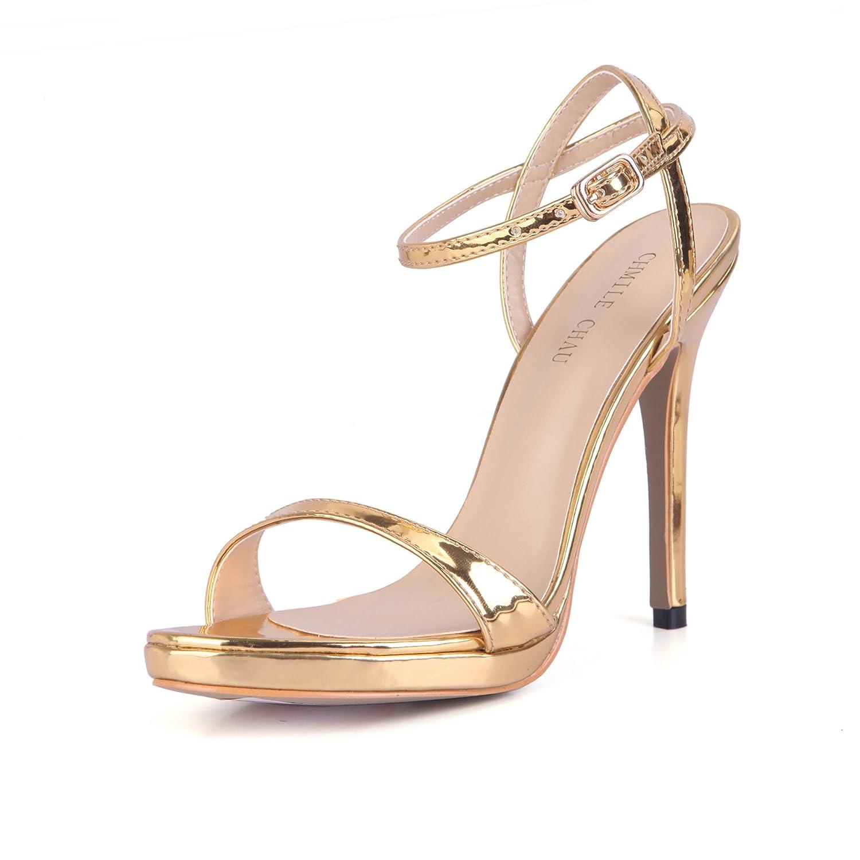 CHMILE CHAU-Sandales Femmes-Sexy-Stiletto-Plusieurs Coloris-Bride B06XJ3YMC8 de Coloris-Bride Cheville-Semelle Compensée Gold-a 1cm-Talon Aiguille-Bout Rond Gold-a 87a0105 - shopssong.space