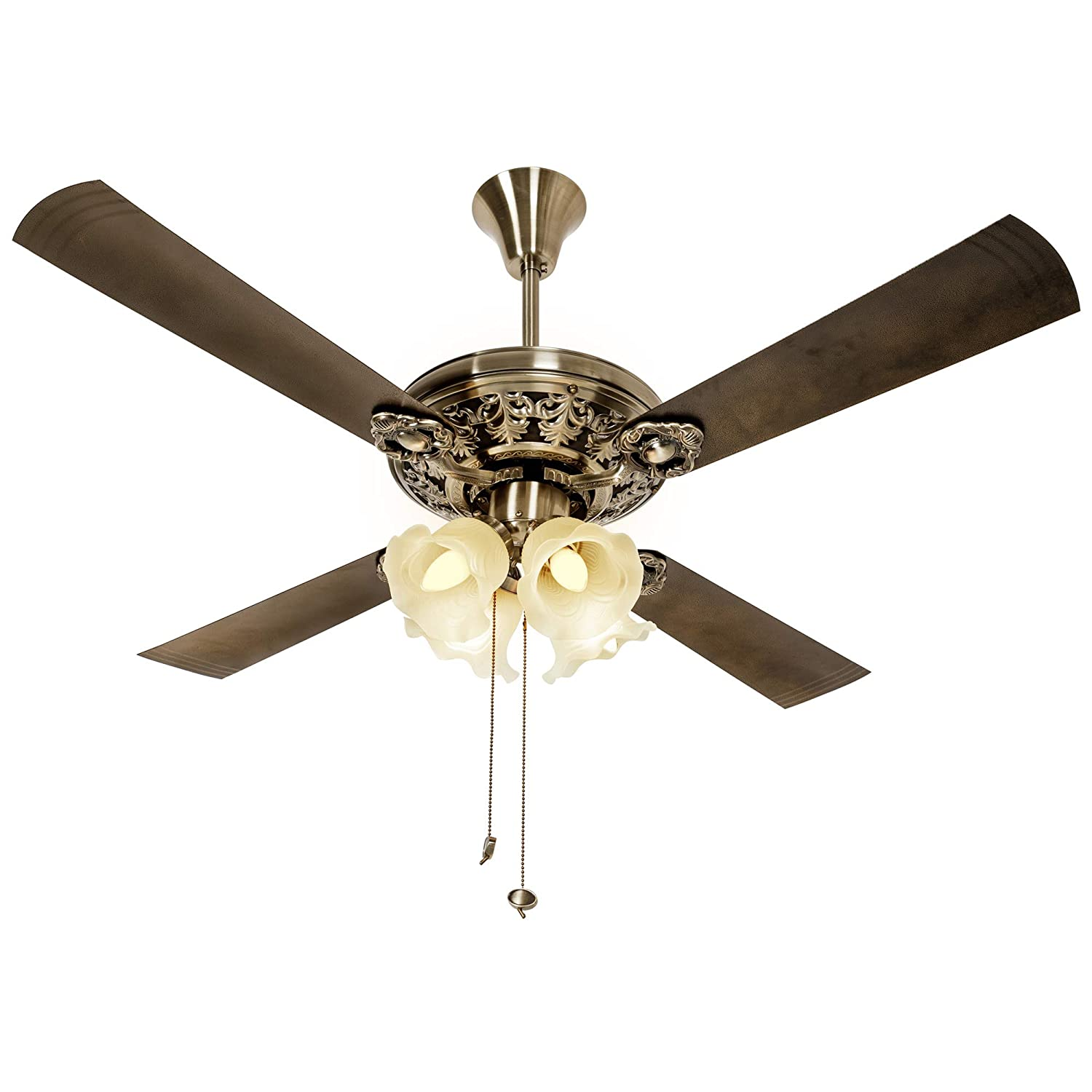 Buy Crompton Nebula Ceiling Fan With Decorative Lights 1200 Mm Antique Brass Online At Low Prices In India Amazon In