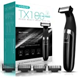 VOGOE Beard Trimmer for Men Electric Razor Rechargeable Shaver Cordless Hair Clippers Waterproof TX100