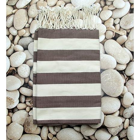 Fiji Chocolate- 100% algodón Fouta toalla de baño, 100cm x 200cm, probablemente la más versátil toalla se puede comprar ...