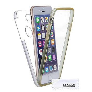 Funda Para Apple iPhone 7 Plus, Carcasa TPU Full Cover 360 Compatible con Apple iPhone 7 Plus, Grados Antigolpes Integral Silicona e acrílico Fina ...