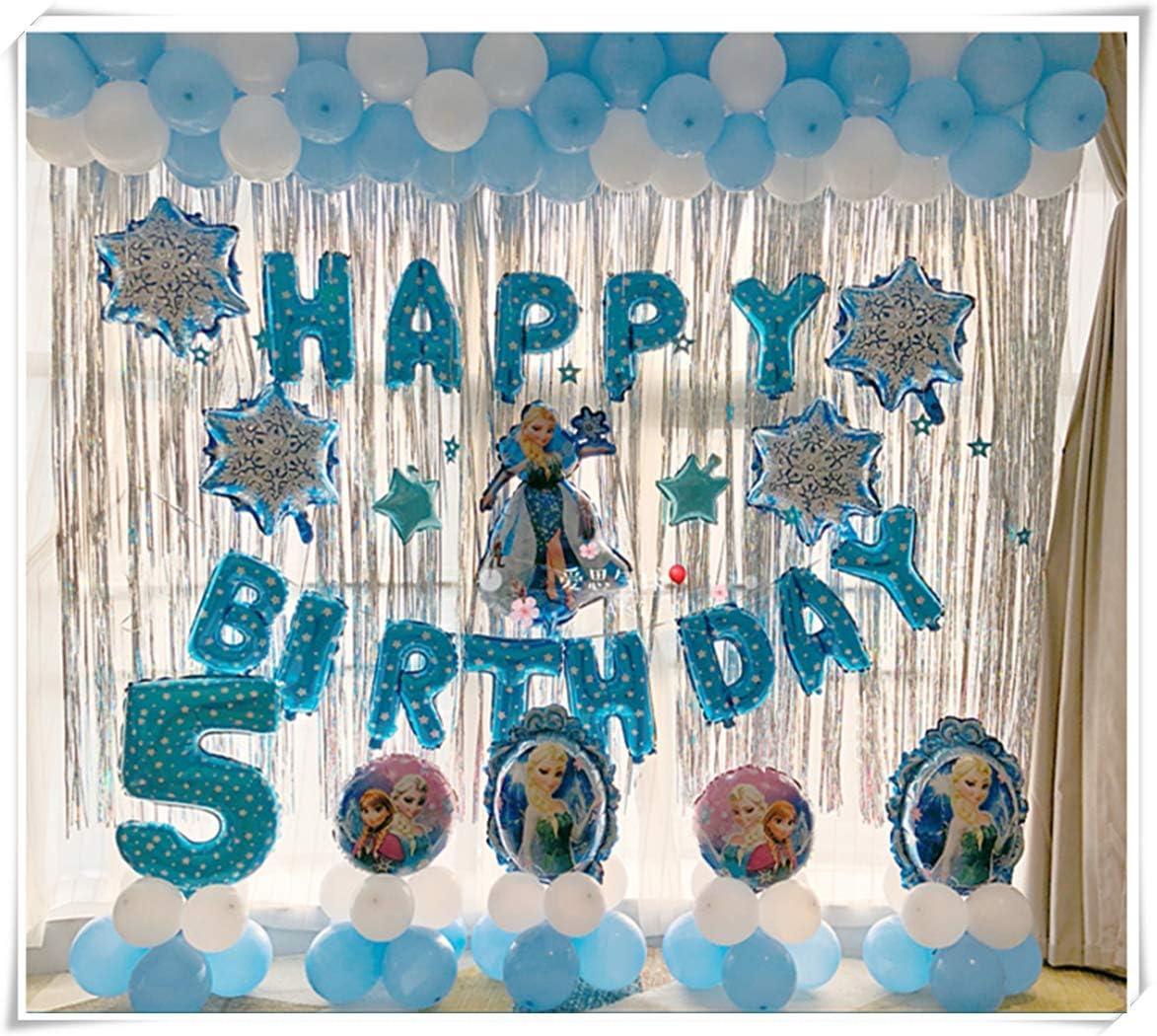 Amazon.com: Frozen decoración de fiesta de cumpleaños, globo ...