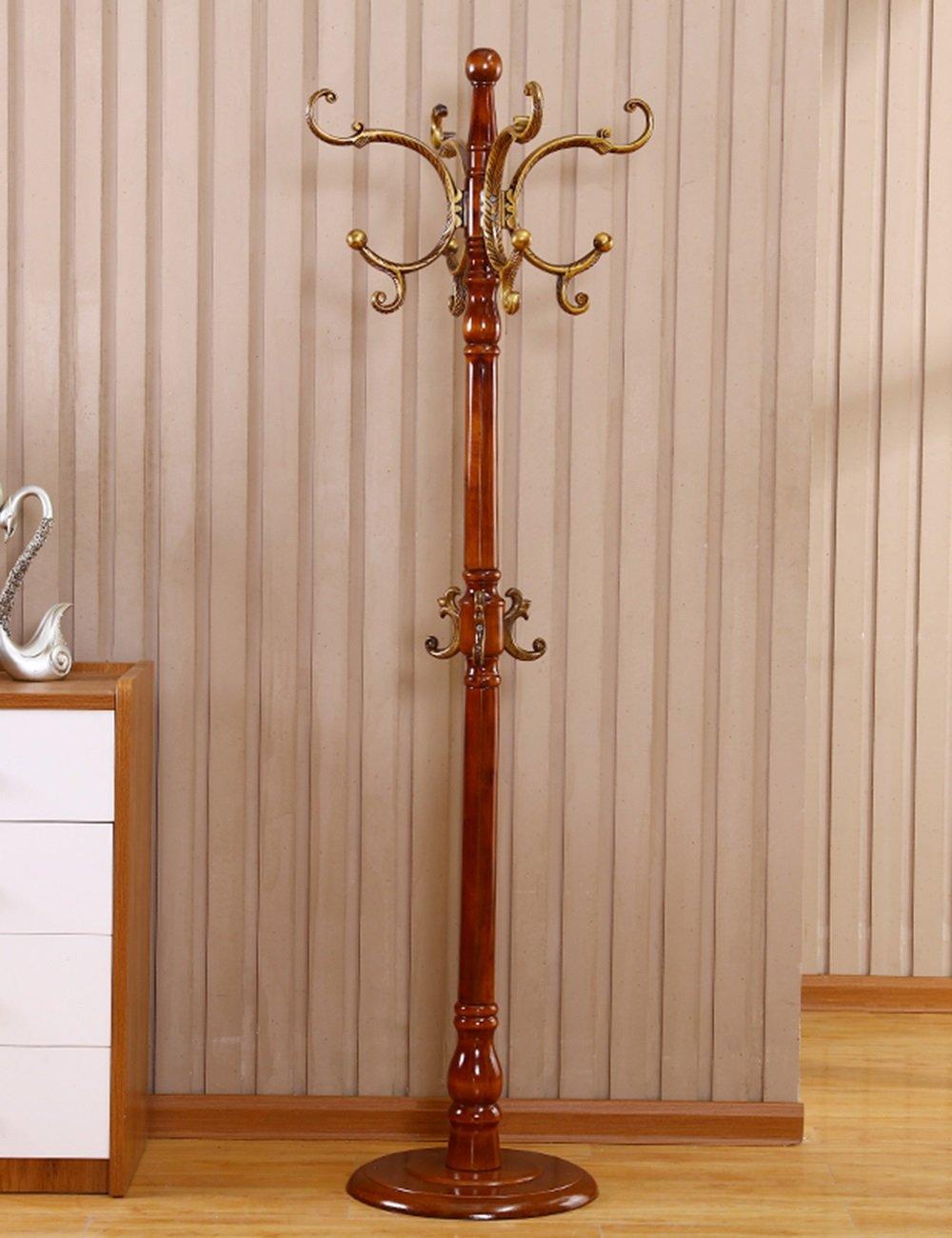 Attaccapanni appendiabito HWF Appendiabiti Appendiabiti da Terra in Legno massello Soggiorno Creativo Verticale Semplice Moderno 183 cm Colore : A