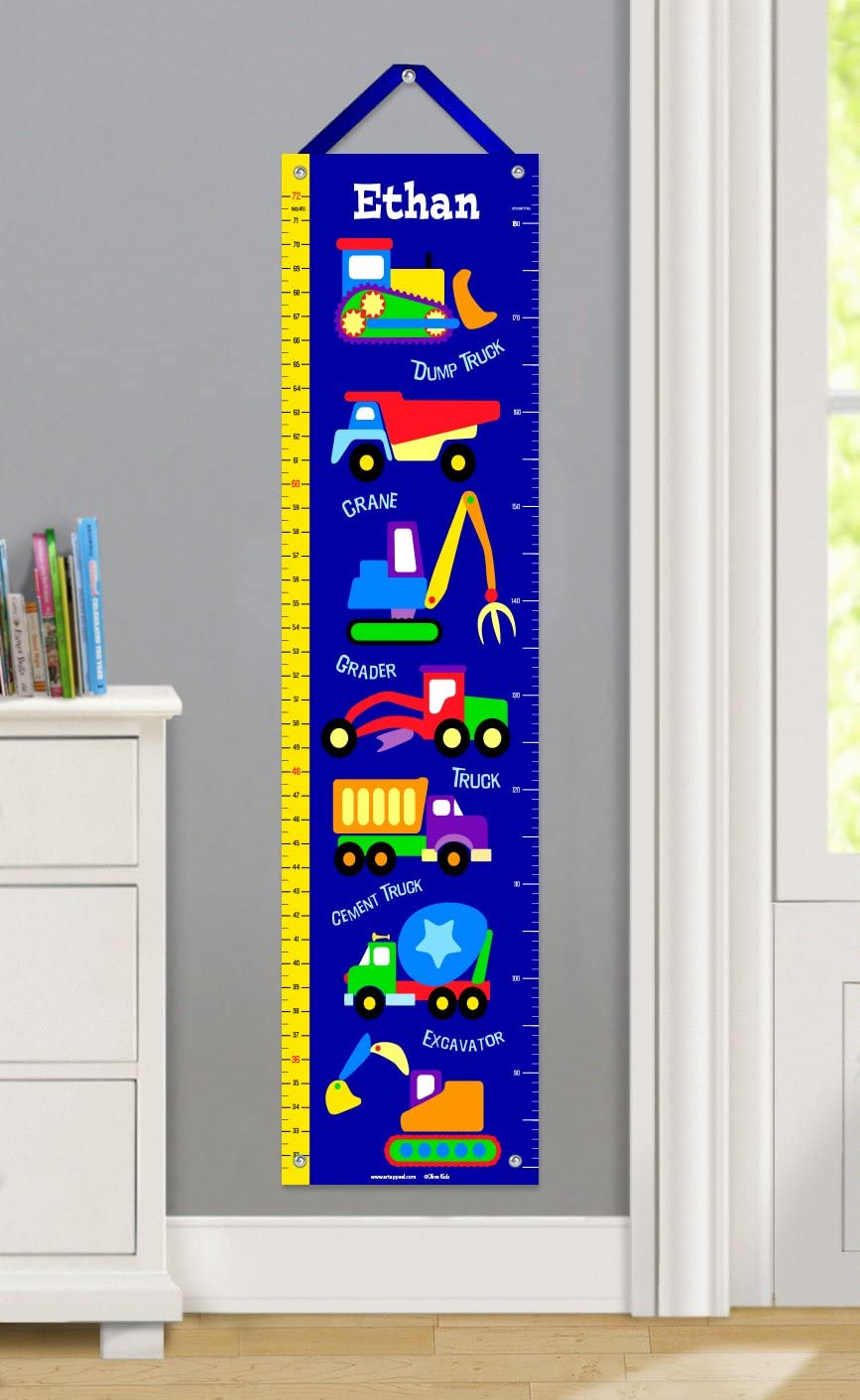 Amazon Com Under Construction Personalized Growth Chart Home Kitchen
