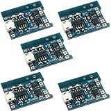 Gaoxing Tech. 5PCS TP4056 Micro USB 5V 1A 18650 litio caricabatteria Consiglio con oltre Carica Scarica protezione (confezione da 5)