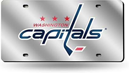 Rico Industries Washington Capitals Silver Laser License Plate