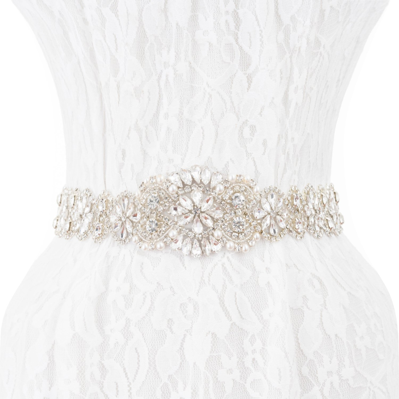 Wedding Sash Bridal Belts, Crystal Wedding Sashes Bridesmaid Belt for Prom Party