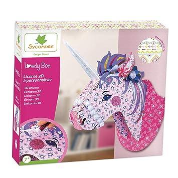 c4ae887b1edd4 Kit de loisir créatif enfant - Licorne 3D à personnaliser - DIY - Lovely  Box Grand