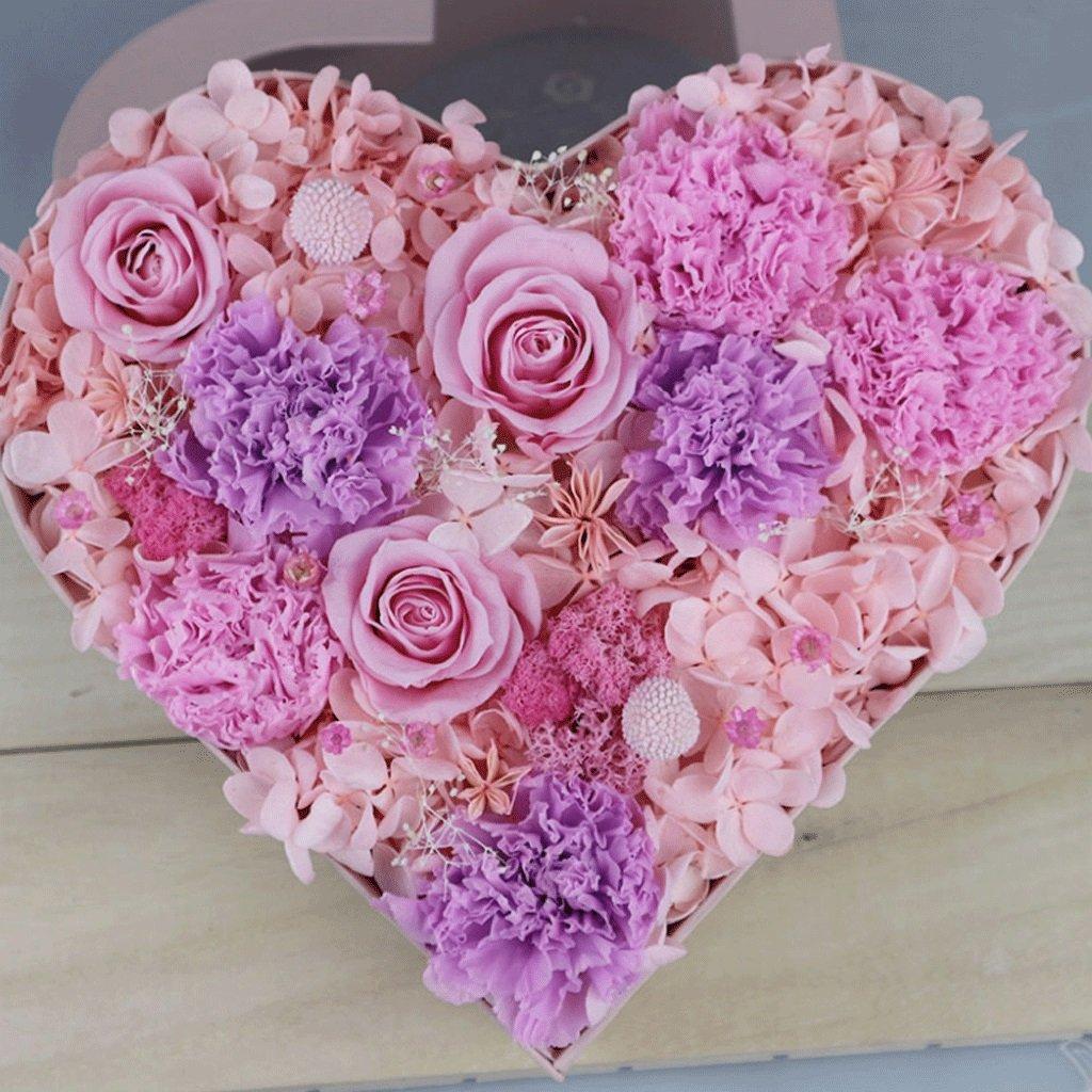 永遠の花ハート型のギフトボックスは、ガールフレンドのガールフレンドの誕生日プレゼントを送信する (色 : ピンク ぴんく) B07D5G8K2N ピンク ぴんく ピンク ぴんく