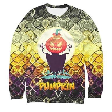 Amazon com: KLFGJ Halloween Shirt Mens Casual Scary 3D