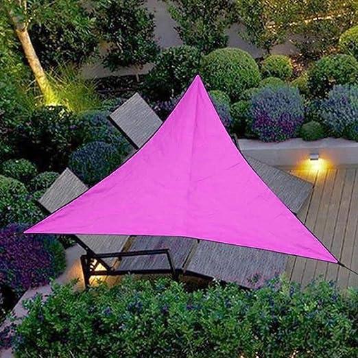 Toldo de Jardin, Toldo de Triangle Sun Sail Shade 4x4x4m, Protector Solar a Prueba de Agua