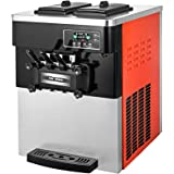 VEVOR 2200W Commercial Soft Ice Cream Machine 20 to 28L or 5.3 to 7.4Gal Per Hour LED Display Auto Shut Off Timer 3…