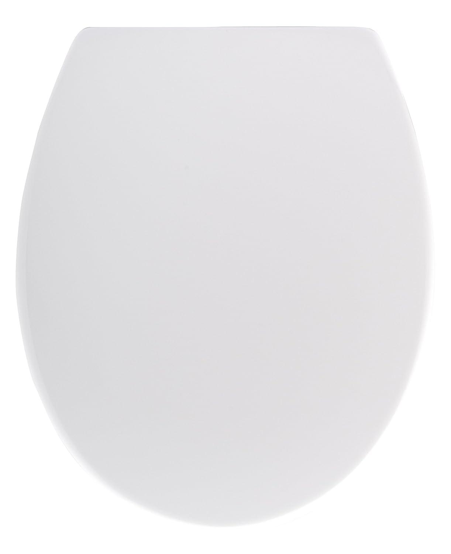 Wenko 20821100 Seduta WC Premium Cento - chiusura ammortizzata, fissaggio igienico Fix-Clip, Etilene vinil acetato, 37.5 x 44.5 cm, Bianco