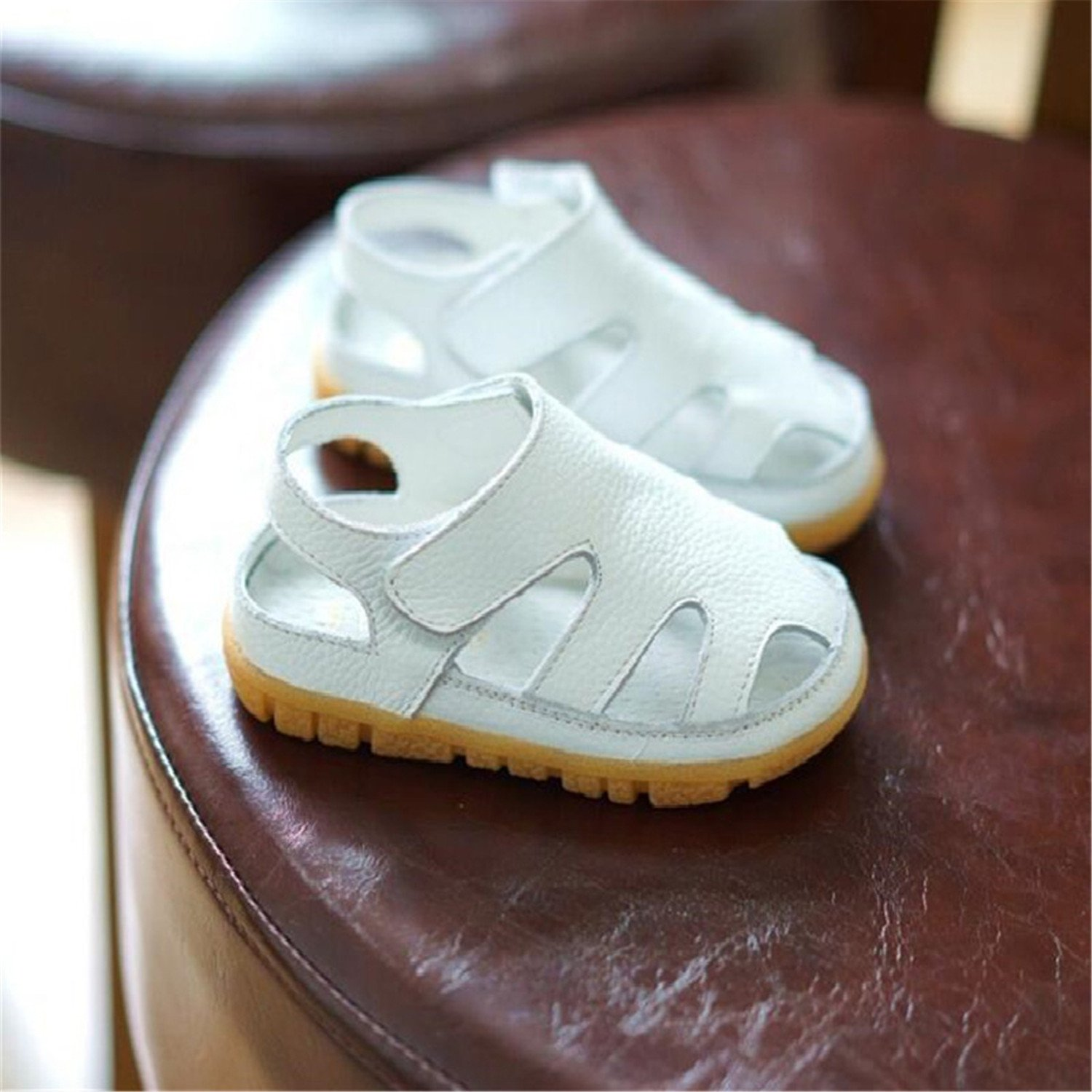 Aworth Fashion Casual Boys Girls Sandal for Baby Shoes Anti-Slip Children Sandals Guinea Pigs Brand White Pink White 2