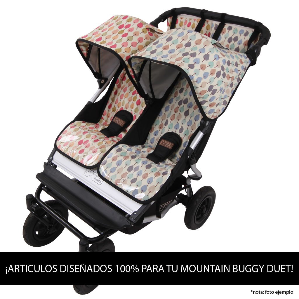 Colchoneta Transpirable Mountain Buggy Duet BOSQUE AZ.Negro tititnins: Amazon.es: Bebé