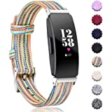 Maledan Replacement for Fitbit Inspire HR & Inspire Bands Women Men Large Small, Woven Fabric Accessories Strap Wrist Band Compatible with Fitbit Inspire & Inspire HR Fitness Tracker & Ace 2