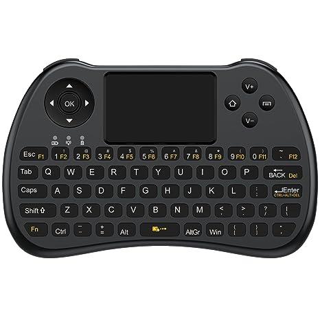 [2017 nueva versión] Aerb 2,4 gHz Mini teclado inalámbrico con ratón touchpad
