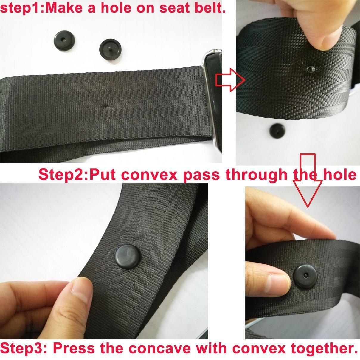 mantiene la hebilla del cintur/ón de seguridad en su lugar Holoras 8 juegos de clips de pl/ástico antideslizantes para cintur/ón de seguridad para el coche no requiere soldadura