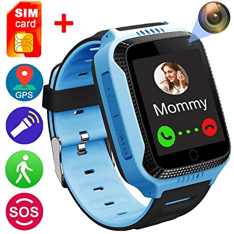 f497024d471 Smart Watch for Girls Boys - GPS Locator Pedometer Fitness Tracker Touch  Camera Games Anti Lost Alarm Clock Smart Watch Bracelet Compatible with iOS  Android ...
