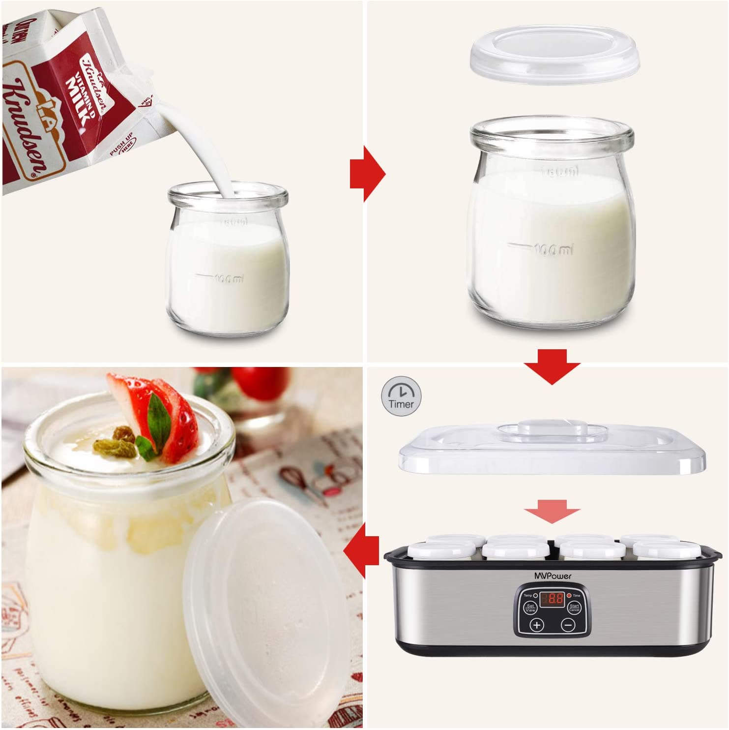 How to make Yogurt step by step : Best electric yogurt maker