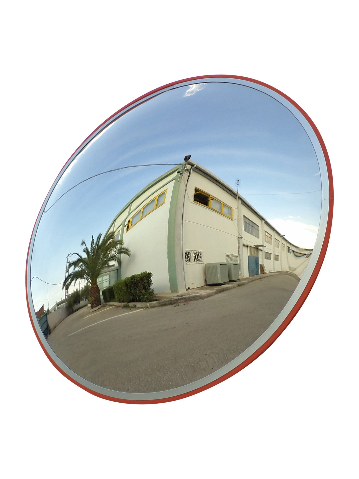 Convex Traffic Mirror 24'' for Driveway, Warehouse and Garage Safety or Store and Office Security, with Adjustable Wall Fixing Bracket to Eliminate Blind Spots and Corners Indoor and Outdoor