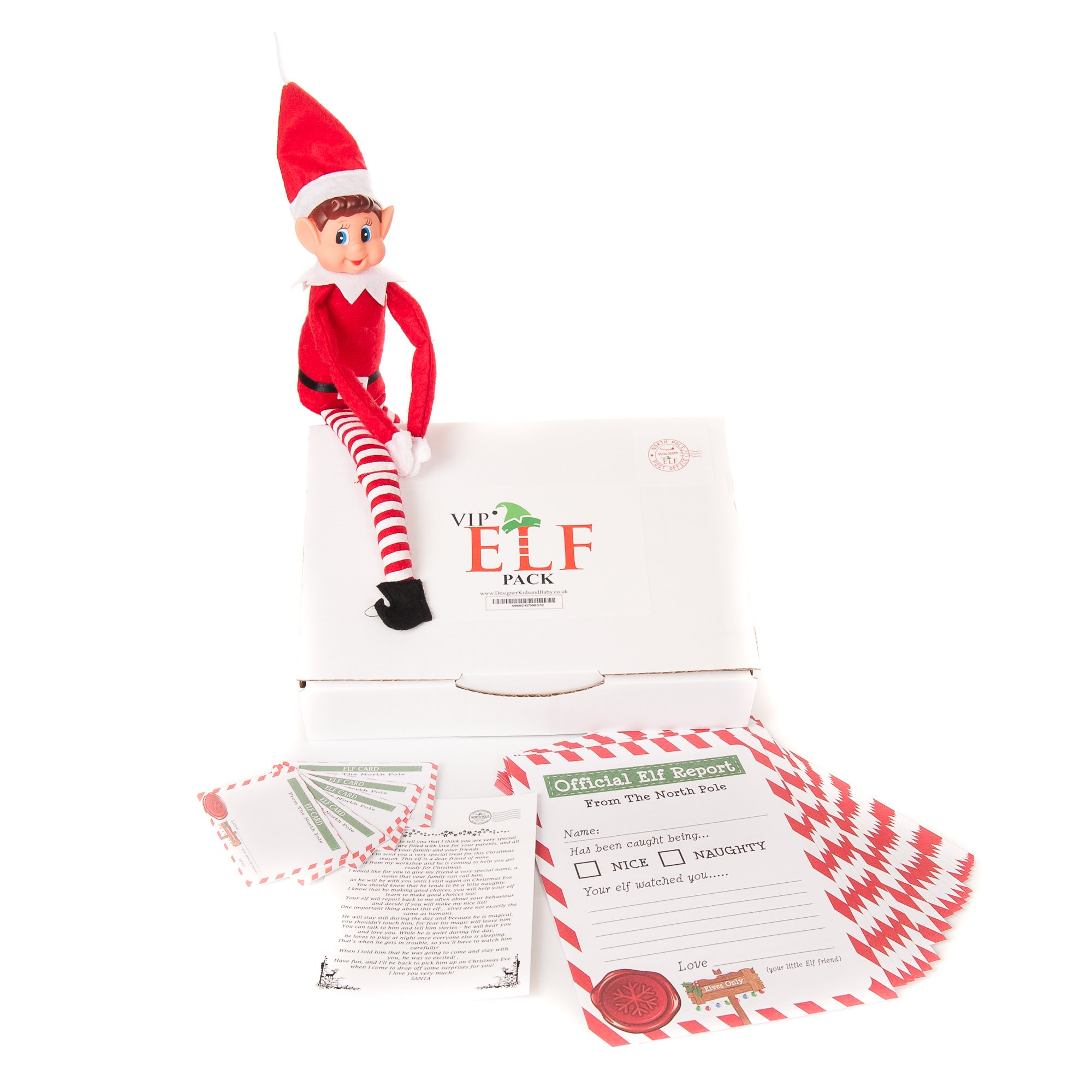 Elves behaving badly Report cards Christmas Behavior Xmas 25 cards pack shelf UK