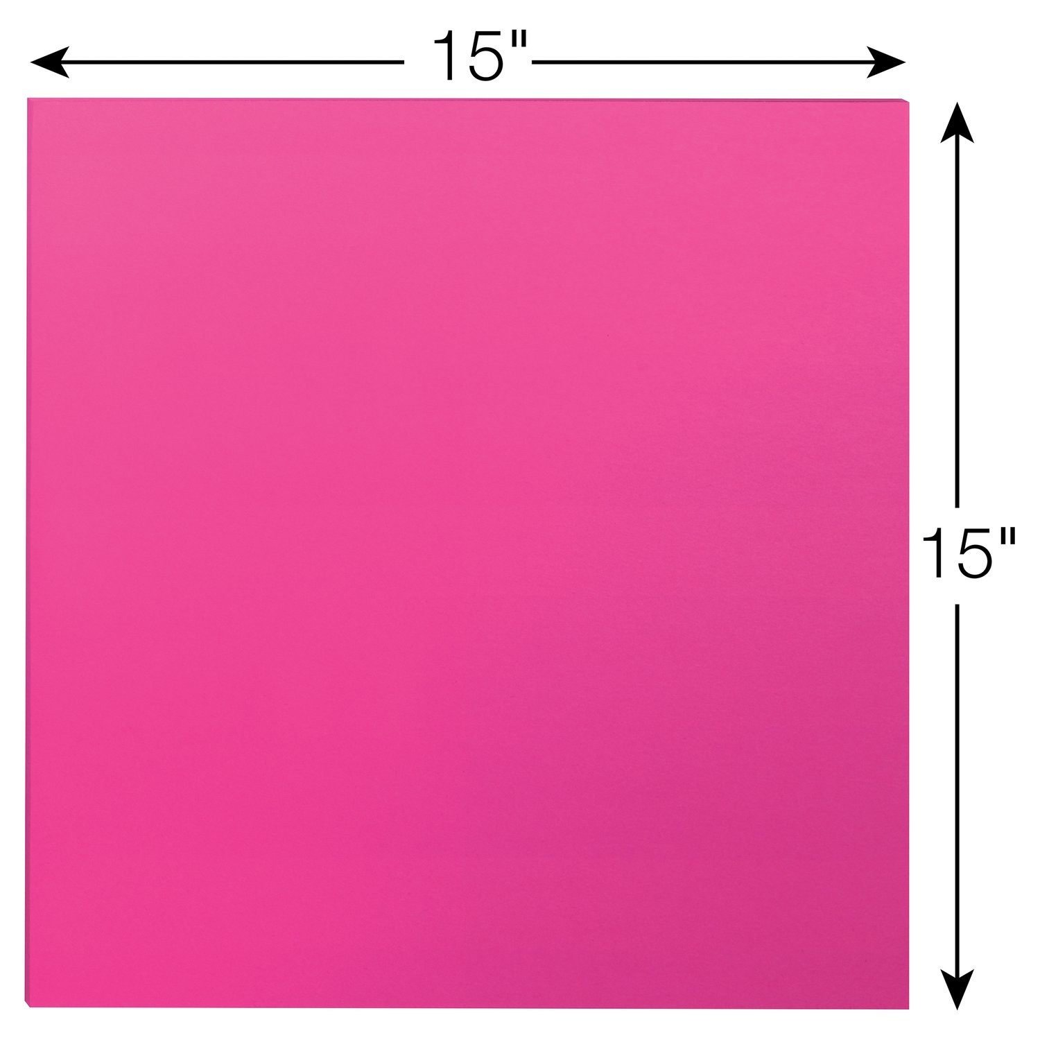 Post-it Big Pad, 15 in x 15 in, Bright Pink, 30 Sheets/Pad (BP15P) by 3M (Image #2)