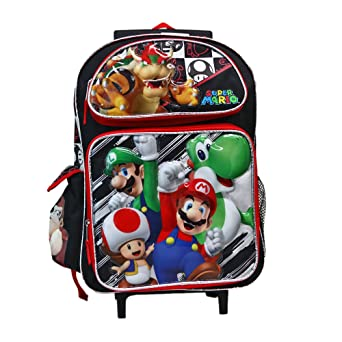 2f23b7d2667c Image Unavailable. Image not available for. Color  Super Mario and Friends  Roller Backpack Bag