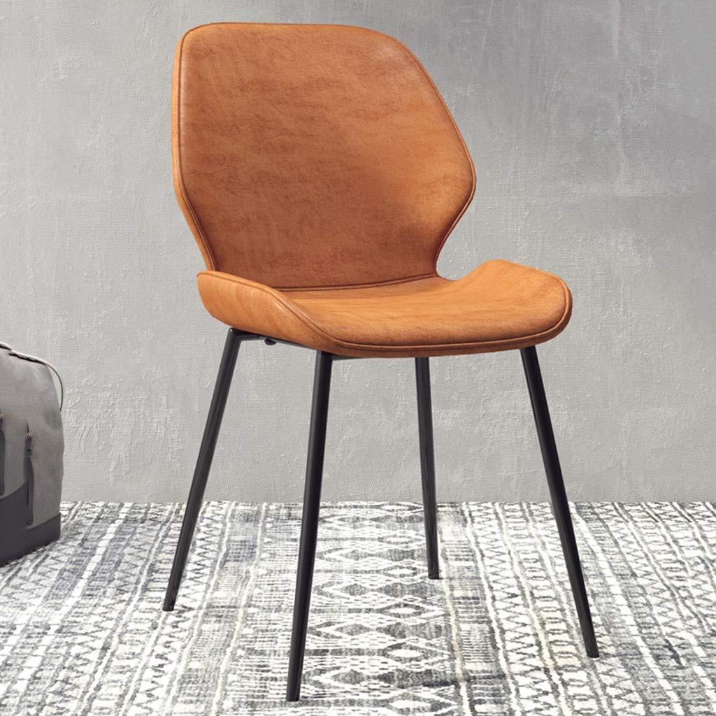 HEJINXL köksstol matstolar PU-läder säte smidesjärn halkfria fötter lyxig mottagning café kontorsstolar möte uppsättning med 4 (färg: D) en