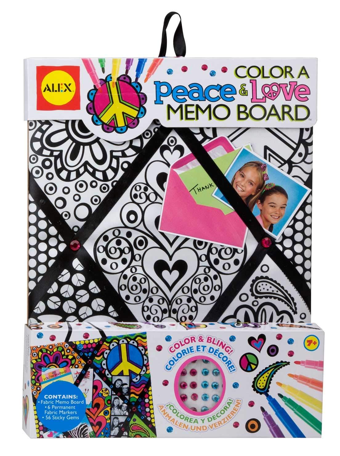 ALEX Toys Craft Color A Peace and Love Memo Board