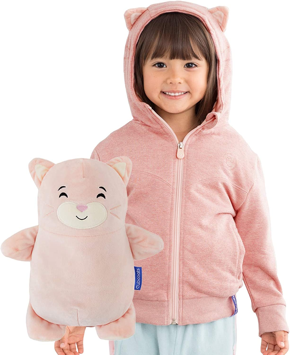 Soft Pink Cubcoats Kali The Kitty 2-in-1 Transforming Hoodie and Soft Plushie