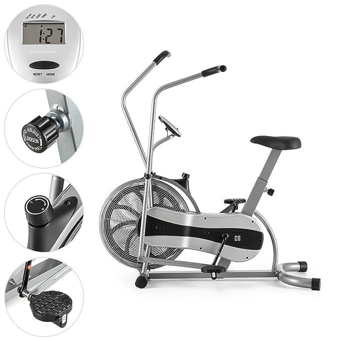 CAPITAL SPORTS Stormstrike 2k Máquina Elíptica Bicicleta Ergómetro Resistencia Infinita Regulación contínua Entrenamiento piernas y brazos simultáneo Altura ...