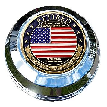 motordog69 indio Gas Cap moneda pantalla plana Set con fuerza aérea jubilado para Chieftain, Chief