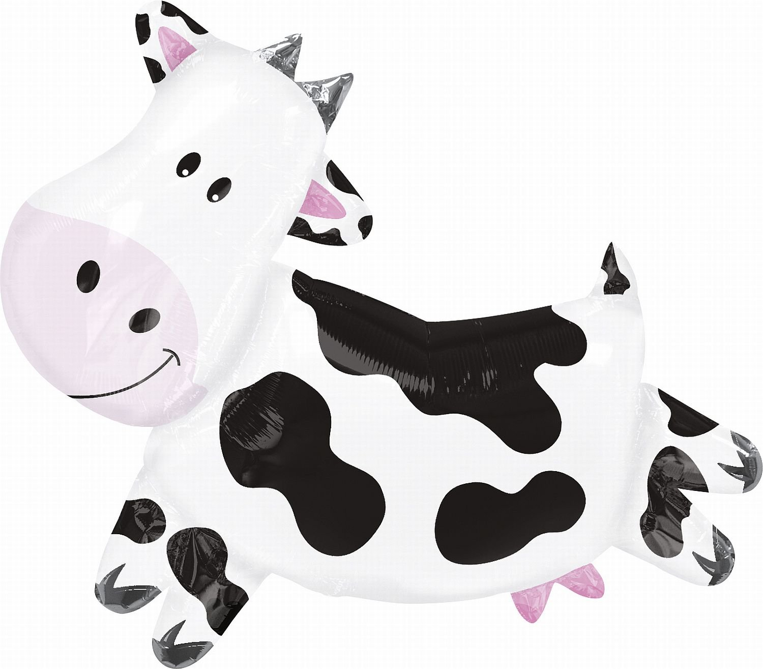 Anagram Cow Shape Mylar Foil Balloon, 30