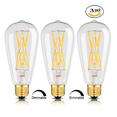 de LED estilo Vintage de W Edison filamentos y 12 bombilla EHI2DbW9Ye
