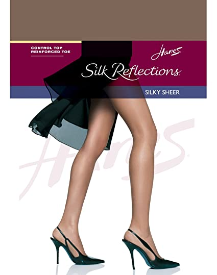9657b7217e902 Image Unavailable. Image not available for. Color: Hanes Silk Reflections  Control Top Reinforced Toe Pantyhose,,Town Taupe ...