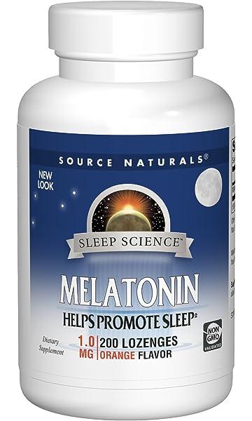 Source Naturals Sleep Science Melatonin 1mg Orange Flavor - 200 Lozenges
