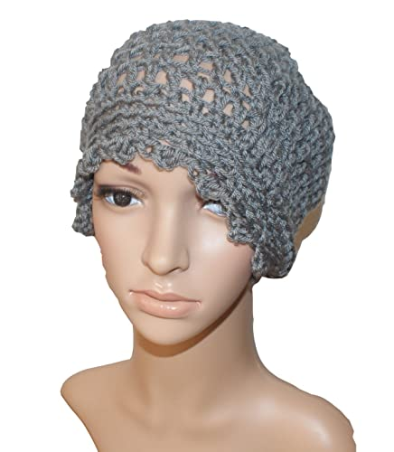 74bdd3cc920 Amazon.com  Gray Crochet Winter Beanie Dread Cap