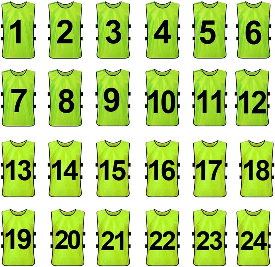 petos de fútbol numerados