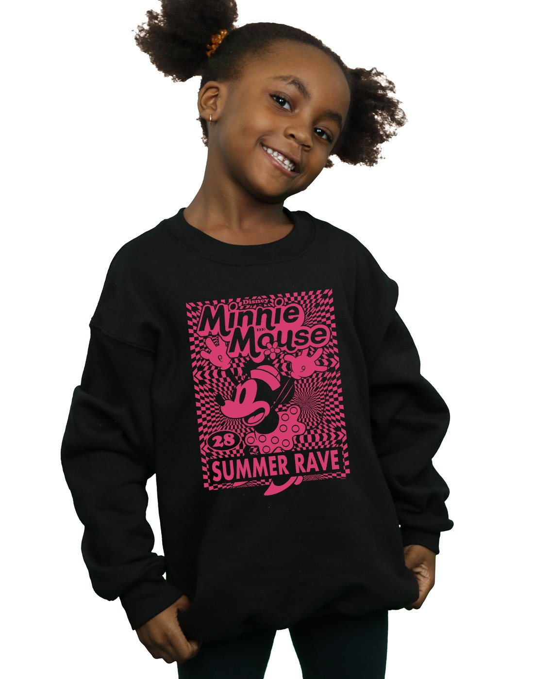 Disney Girls Minnie Mouse Summer Party Sweatshirt Black 12-13 years