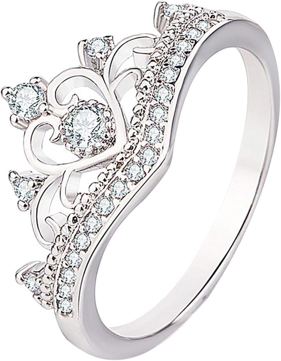 USStore Valentine's Day Jewelry Gift - Creative Cute Ring Animals Ladies Full Diamond Microinlaid Zircon Anniversary Rings (5, C)
