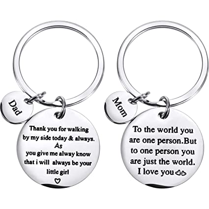 Tatuo 2 Pieces Keychain Special Gifts For Mother Father Mom Dad Gift Set Birthday