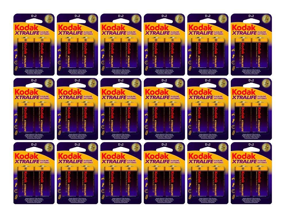 36-Pack) Kodak Xtralife de tamaño D pilas alcalinas LR20 1,5 ...