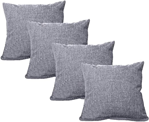 UNIAI 4 Pack Throw Pillow Cover 45X45cm Home Decorative Solid ...