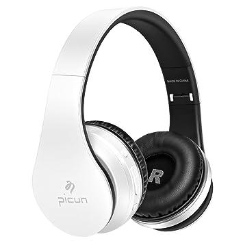 Inalámbricos Bluetooth auriculares estéreo Over-oreja con Micrófono Manos Libres y Cable de Audio para