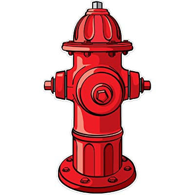 Fire Hydrant Wall Decal Kids Childrens Room Peel Stick Movable Cartoon Stickers Vinyl Wall Art: Baby