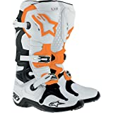 Alpinestars Tech 10 Boots , Primary Color: White, Size: 8, Distinct Name: Orange, Gender: Mens/Unisex 2010014248