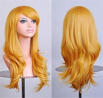 Chiguo 28/ 70cm Peluca de las Mujeres Moda Multicolor Pelo Largo Rizado Pelo